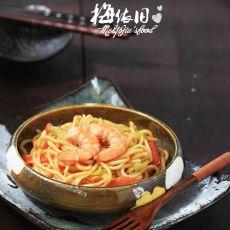 日式咖喱炒面的做法