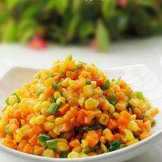 青椒炒玉米的做法