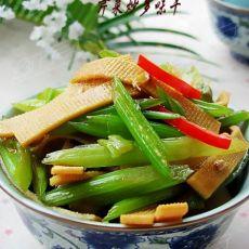 芹菜炒多味干的做法