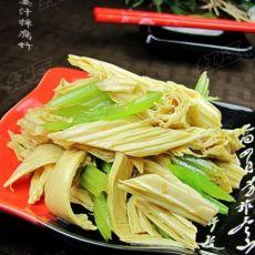 姜汁腐竹拌芹菜的做法
