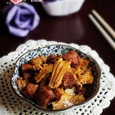 红烧肉烧腐竹的做法