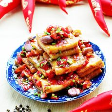 红椒酿豆腐的做法