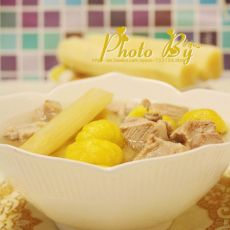 甘蔗栗子煲排骨汤