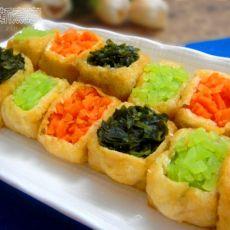 豆腐雕鱼彩蔬盅