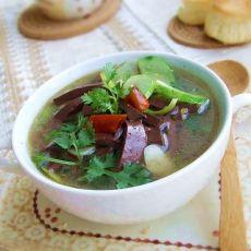 黄瓜猪血汤