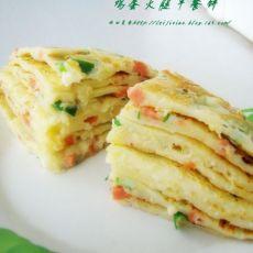 鸡蛋火腿早餐饼