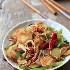 干锅豆腐鱼的做法