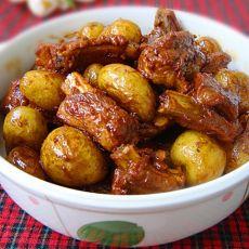 小土豆烧排骨