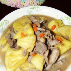 菠萝炒鸭胗的做法