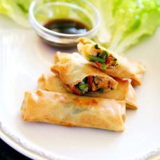 韭菜肉丝春卷的做法