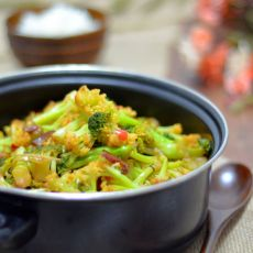 干锅双花菜