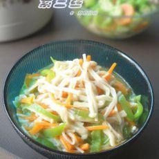 素食小菜也美味―素炒三丝