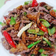 茶油白椒炒牛肉的做法