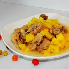 菠萝鸭肉的做法
