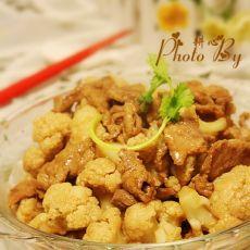 肉片炒花椰菜的做法