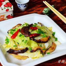 香菇手撕包菜的做法