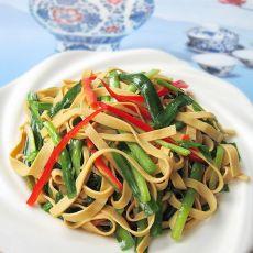 蚝油韭菜炒豆皮的做法