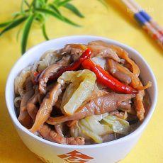 平菇烧白菜的做法