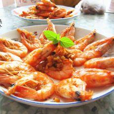 姜蒜虾的做法