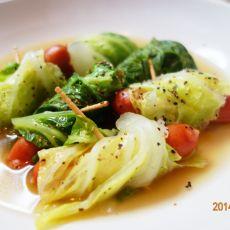 熏火腿肠白菜汤