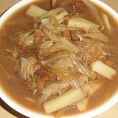 白菜土豆炖粉条的做法