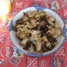 木耳炒白菜片