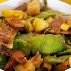东北豆角炖肉的做法