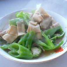 干豆腐烩尖椒的做法