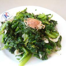 虾皮拌芹菜叶