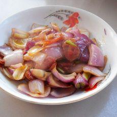 腊肠洋葱片