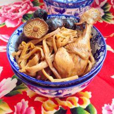 金针香菇烧仔鸡