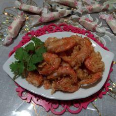 油炸花虾的做法