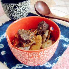 牛肉烩白萝卜土豆的做法
