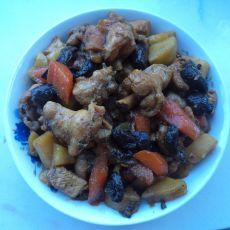 鸡肉炖红蘑