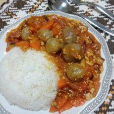 意式番茄肉酱肉丸饭