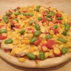 玉米火腿披萨的做法