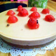免烤8寸晶透蓝莓慕斯蛋糕