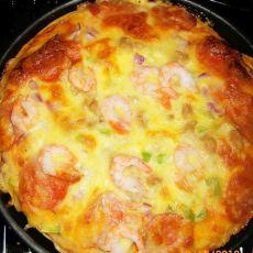 北极虾披萨