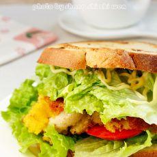 香煎鸡腿三明治