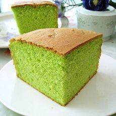 八寸菠菜戚风蛋糕的做法
