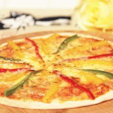 彩椒披萨的做法
