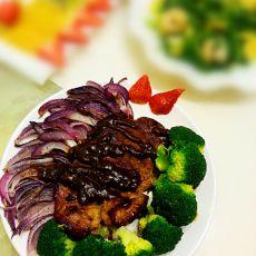 蔬菜西冷牛排