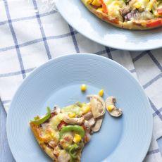 腊肠蘑菇披萨的做法