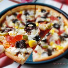 牛肉香肠披萨