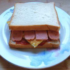 简易三明治的做法