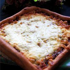 自制培根香葱披萨