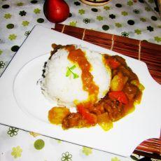咖喱雪龙牛肉饭的做法