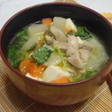 鸡肉味噌汤