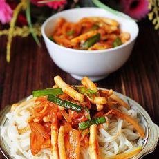 韩式鱿鱼拌面