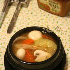 杂菜大酱汤的做法